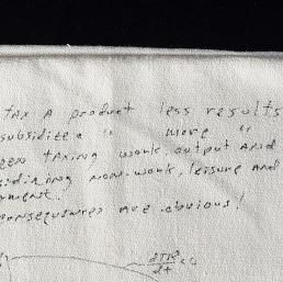 Laffer Curve Napkin | National Museum of American History