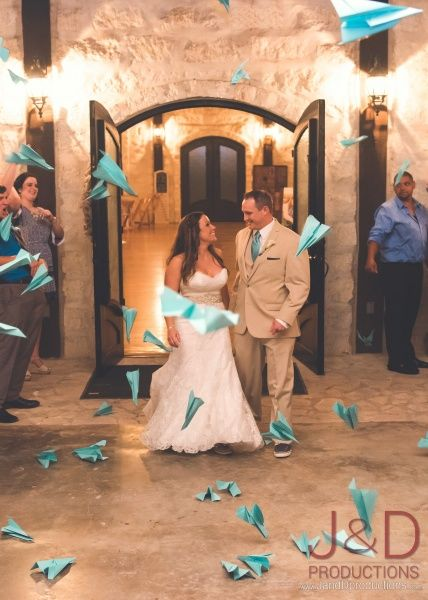 Wedding Exit, The Springs Event Venue, Toss Items, paper airplanes