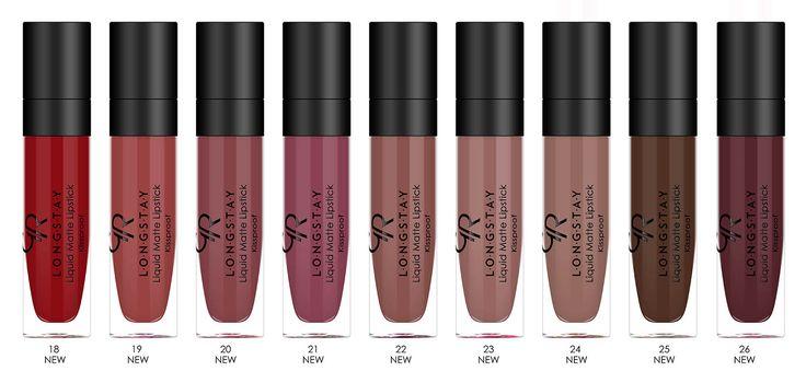 More colours added to Golden rose Liquid Matte lipstick collection no.18 - no. 26 #beautycosmosmalta