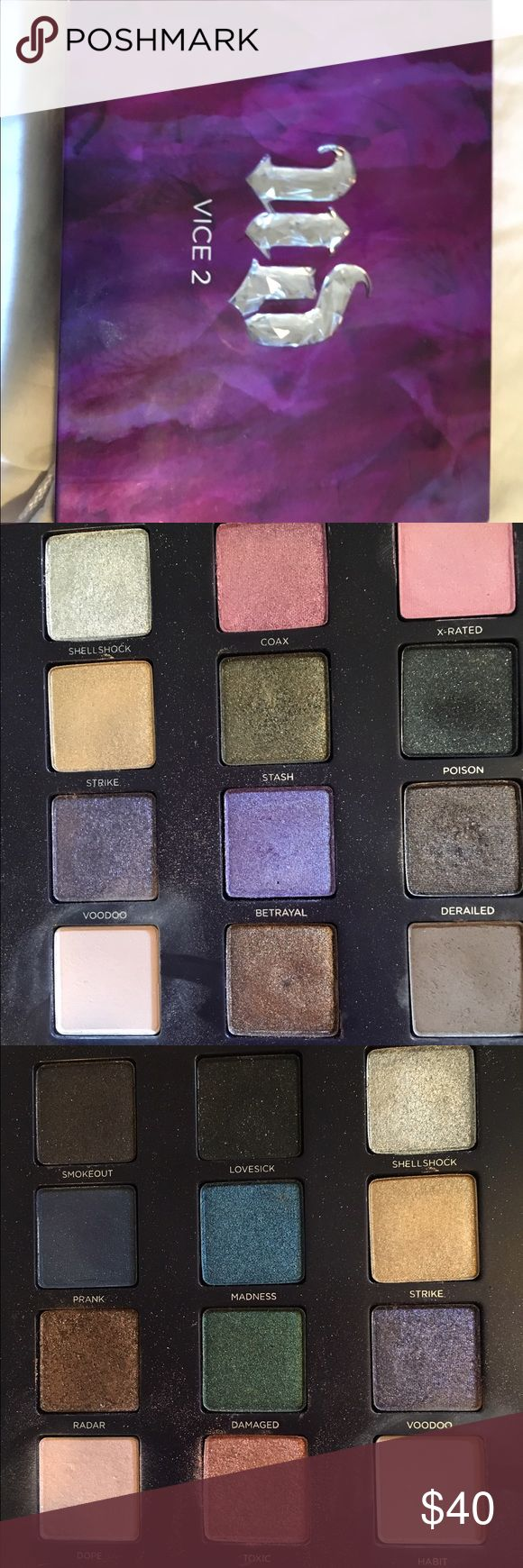 Urban Decay Vice 2 Pallete I'm selling my Urban Decay vice 2 palette! Rarely used it, just not the colors for me. Urban decay shadows are all awesome and such high quality! Urban Decay Makeup Eyeshadow