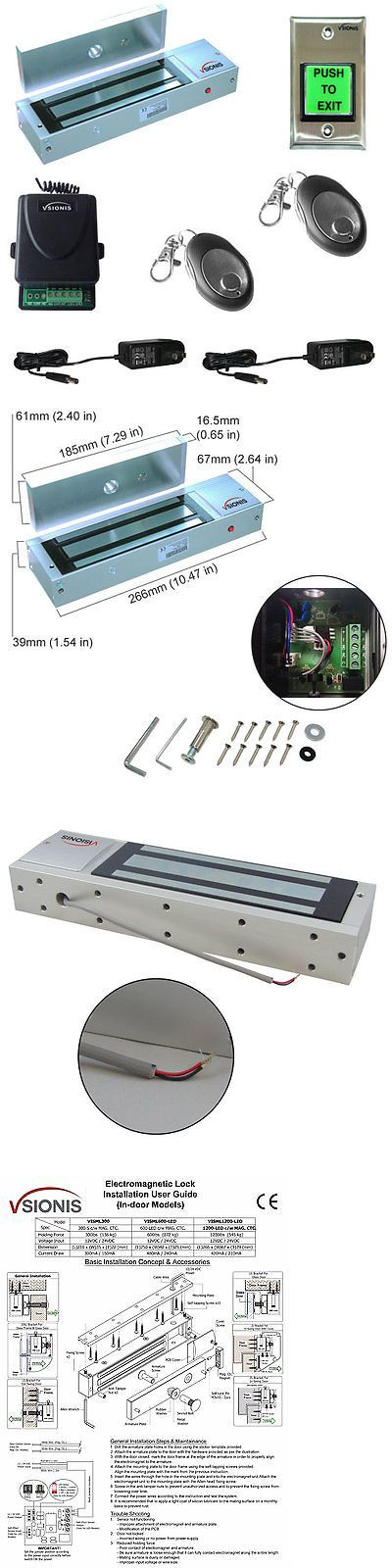 Intercoms and Access Controls: Maglock 1200Lbs Vsionis Access Control Kit With Wireless Receiver And Remote BUY IT NOW ONLY: $175.95