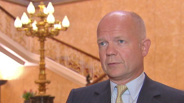 BBC News - William Hague believes Assad behind chemical attack