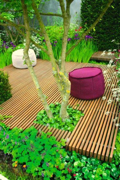 Boardwalk style deck