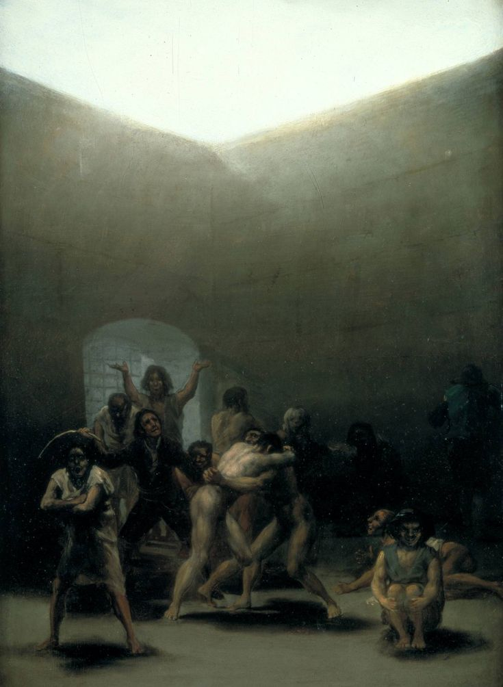Yard with Lunatics, Francisco Goya