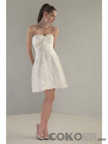 Korta-Brudklänningar-söta-spetsar-kort-bröllopsklänningar