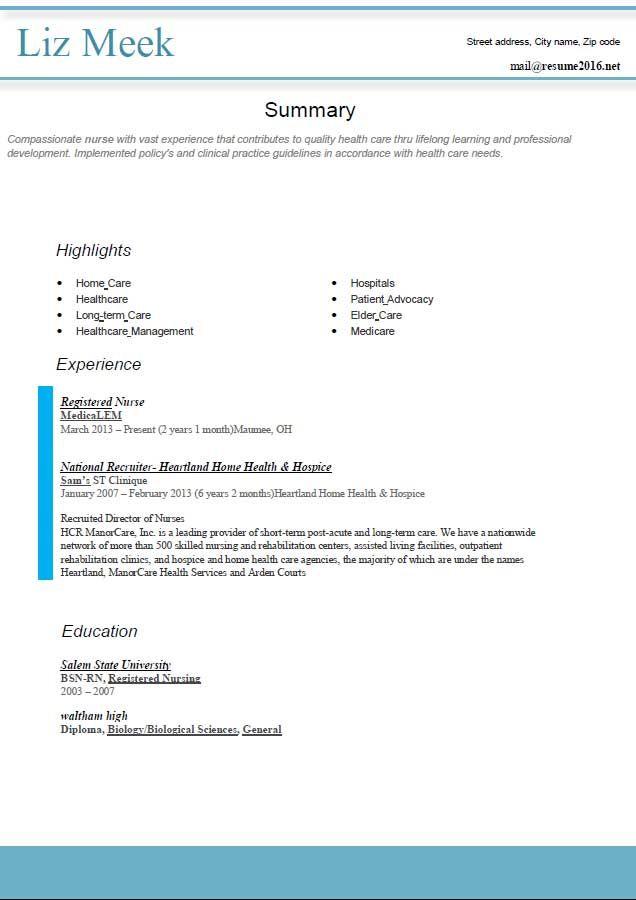 Melhores Ideias De Resume Format Free Download No