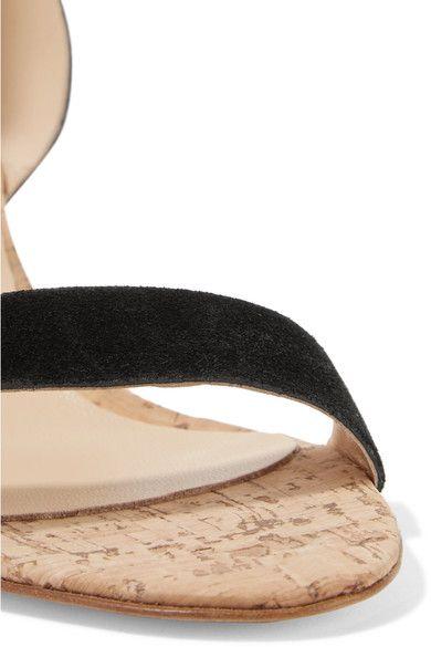 ATP Atelier - Carmen Suede And Cork Sandals - Black - IT38