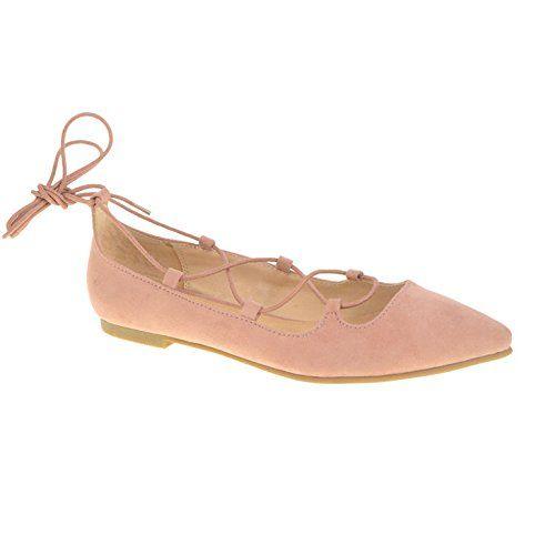 Ballet Flynt para mujer, plano, ante rosa, 9.5 M US