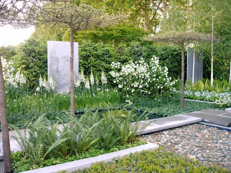 Designer Ulf Nordfjell, an influential Swedish landscape architect. Chelsea flower Show.