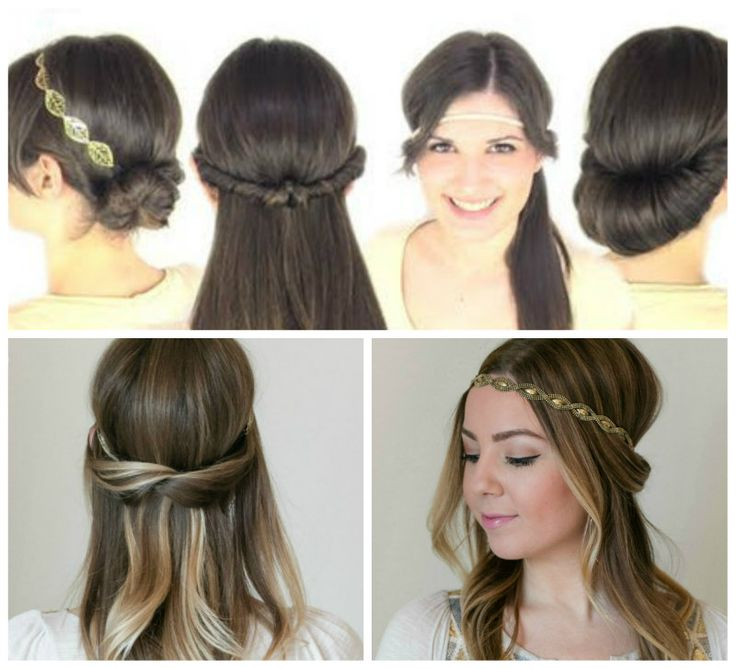 Patryjordan Easy Hairstyles For Short Hair : Hairstyles with headbands, Easy hairstyles and Hairstyles on Pinterest