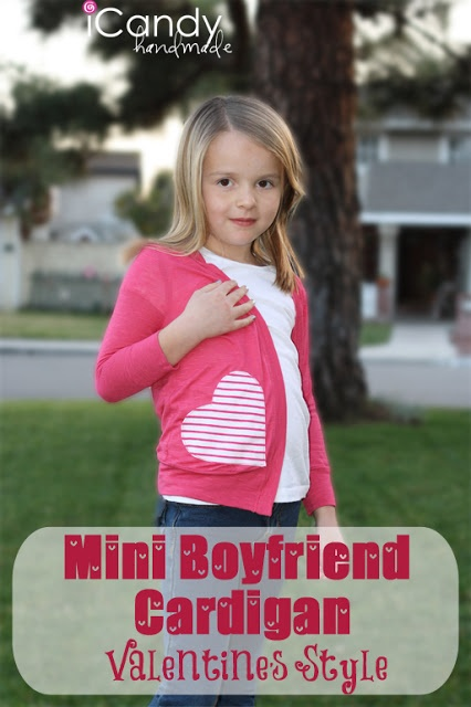 icandy handmade: (tutorial and pattern) Mini Boyfriend Cardigan Valentines Style size 5-6