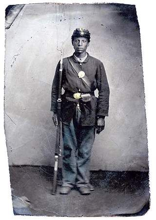 "Observer-Reporter | Cemetery hopes to honor black Civil War veteran. A photograph of Capt. William Catlin from ""The Civil War in Pennsylvania: A Photographic History."""