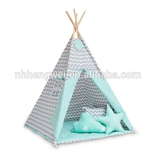 Wholesale Customized grey chevron children kids play indian teepee for sale From m.alibaba.com