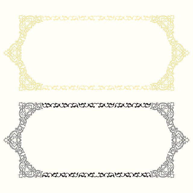 إطار ذهبي نمط الإطار ديكورات Png وملف Psd للتحميل مجانا Page Borders Design Baby Quotes Frame