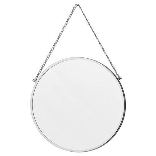 Solidne lustro wykonane ze stali nierdzewnej z aluminiową ramą. Powieś go między ramkami na ścianie, aby stworzyć efekt przestrzenny.