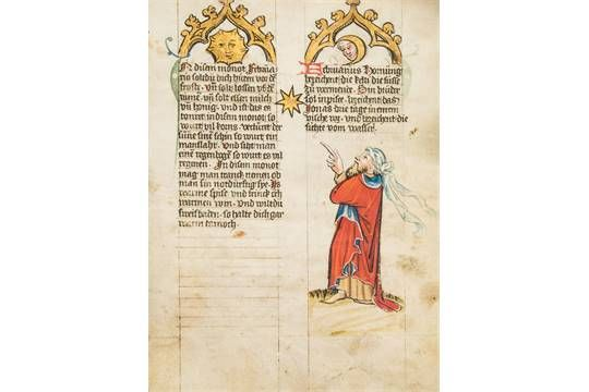 The Mckell Medical Almanack, - in German, illuminated manuscript on parchment [Alsace, c in Germ
