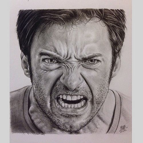 Realistic Angry Face Drawing | Displaying (17) Gallery Images For Angry Wolverine Hugh Jackman...