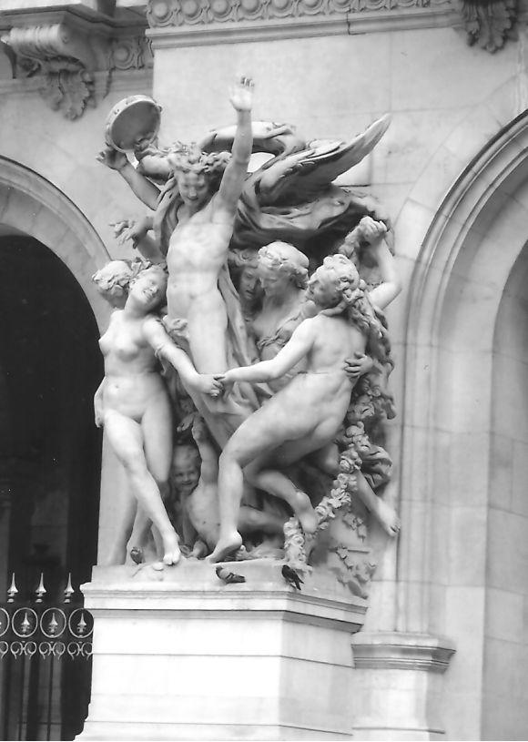 Statues outside of the Opera Garnier, Paris, France