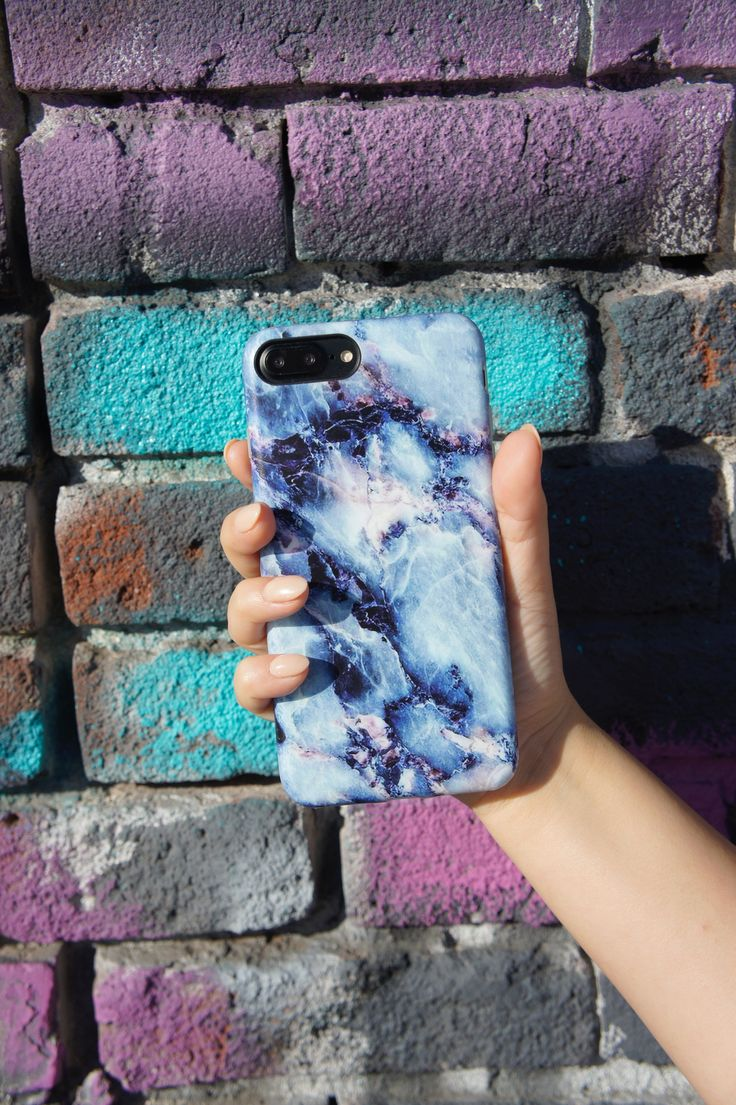 Monday blues  Marble Case in Geode for iPhone 7 & iPhone 7 Plus from Elemental Cases