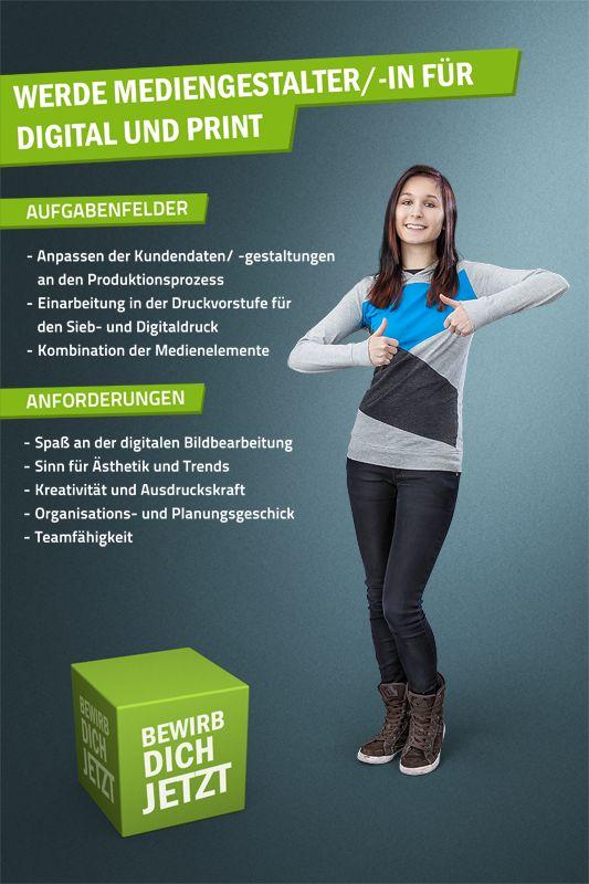 Hier findest du alle Informationen zum Ausbildungsberuf: Mediengestalter/ -in. http://on.fb.me/1jYqjjm  Viel Erfolg beim Bewerben. Euer Sachsen Fahnen/ Vispronet® Team.