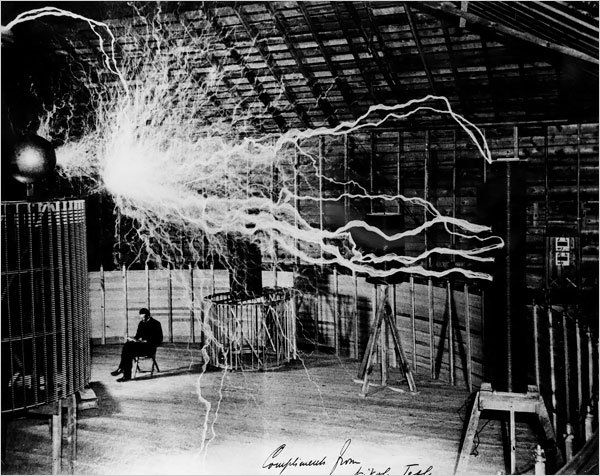 Nikola Tesla in his laboratory                                                                                                                                                                                 More