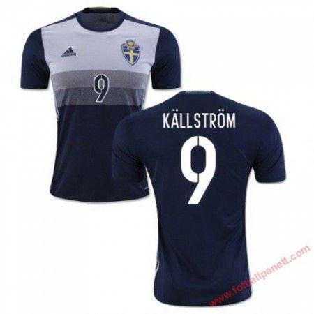 Sverige 2016 Kallstrom 9 Bortedrakt Kortermet.  http://www.fotballpanett.com/sverige-2016-kallstrom-9-bortedrakt-kortermet-1.  #fotballdrakter