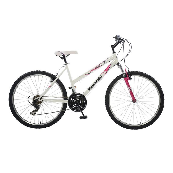 K26G Hardtail Mountain Bike, 26 in. Wheels, 18 in. Frame, Women's Bike in White/Pink, Whites