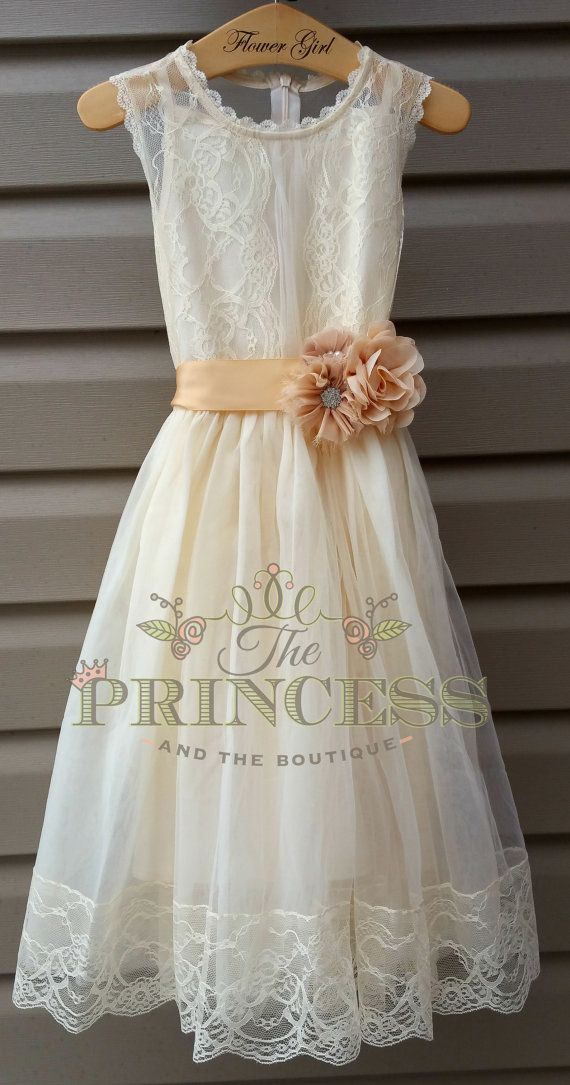 Best 25 Lace flower girl dresses ideas that you will like on