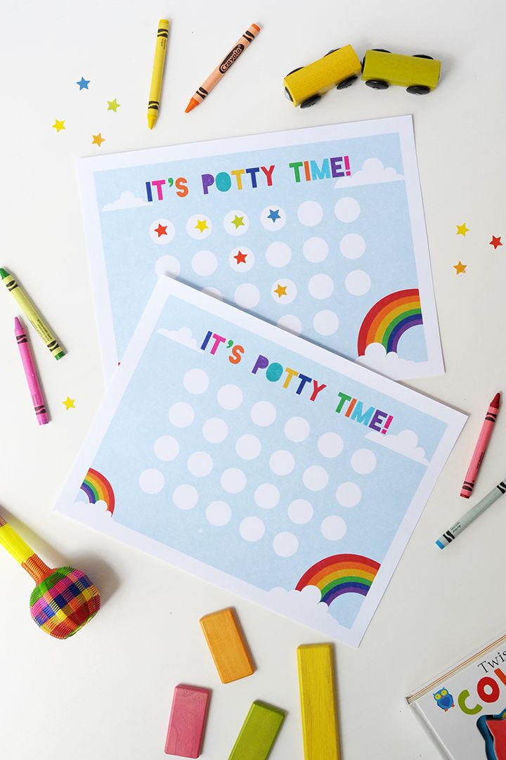 Free Printable Potty Training Chart | via Alice & Lois