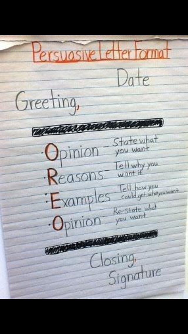 33 best Letter writing images on Pinterest Teaching writing - Persuasive Letter Example