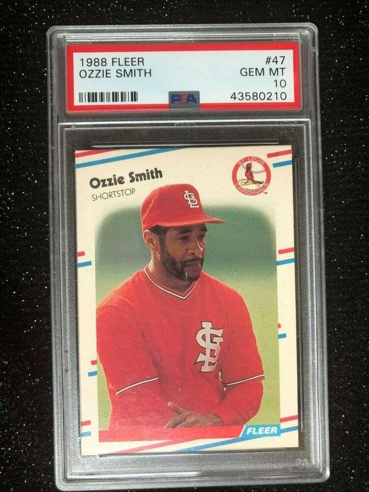 1988 fleer ozzie smith 47 baseball card st louis