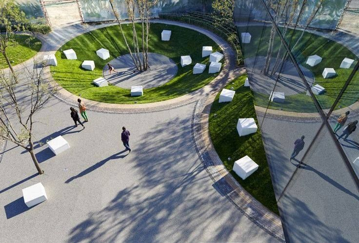 SMART URBAN - landscaping / cantilevered showroom / Spark Architects