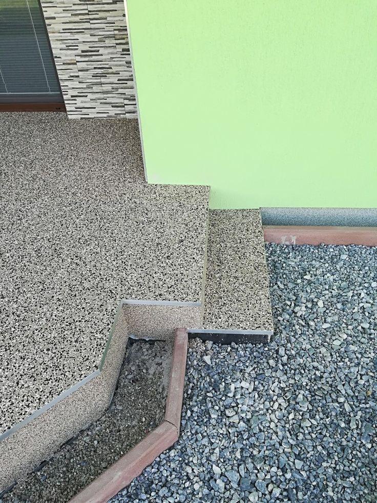 Detail ukončenia terasy. Použitý profil SC1. #art4you #artpodlahy #kamennýkoberec