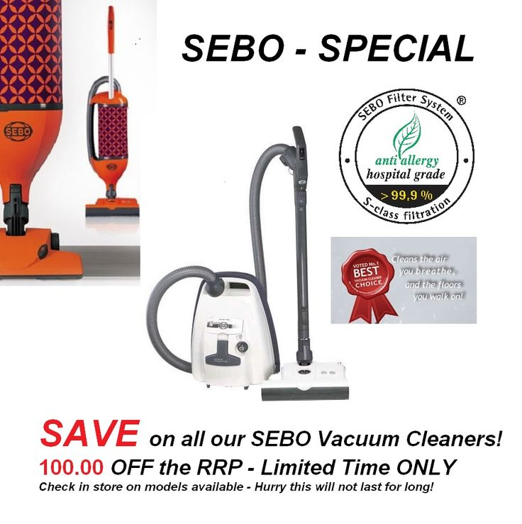 The BEST Vacuum Cleaners got NOW even more affordable! - SEBO AIRBELT K3 PREMIUM - RRP $1,299 NOW ONLY $1,199 - available in White & Gray ONLY. - SEBO FELIX PREMIUM - RRP $1,199 NOW ONLY $1,099 - and ALSO available in four colours - Orange, Beige, Blue & Red.