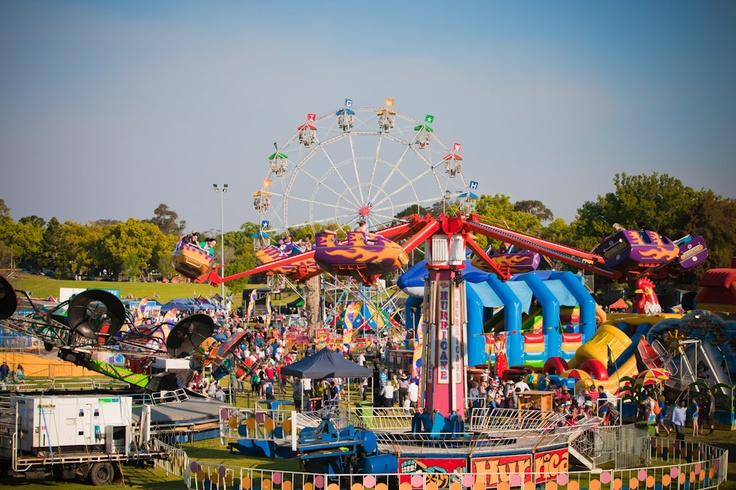 at Sideshow Alley at Toowoomba Carnival of Flowers (2011).