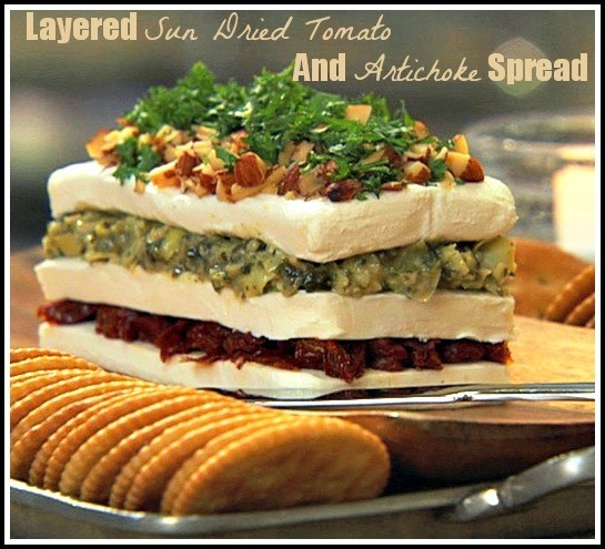 Layered Sun Dried Tomato and Artichoke Spread. An elegant spin on the ...