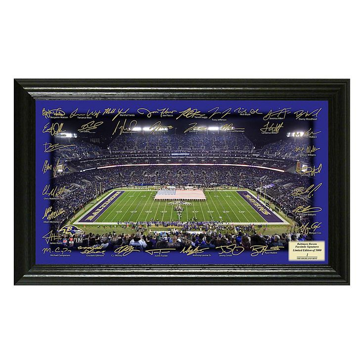 Officially Licensed NFL 2017 Signature Gridiron Print - Ravens