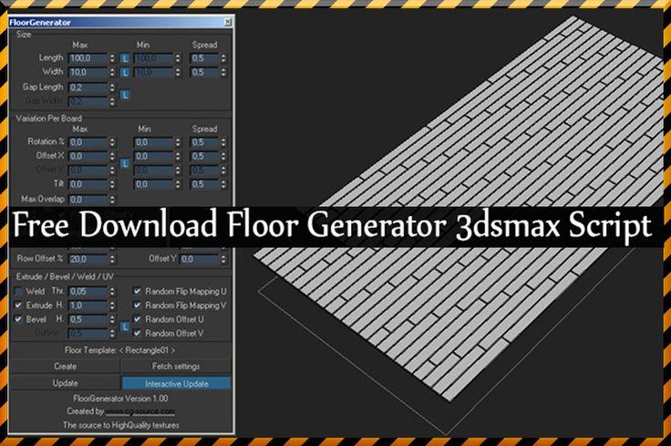 Free Download Floor Generator 3dsmax Script http://www ...