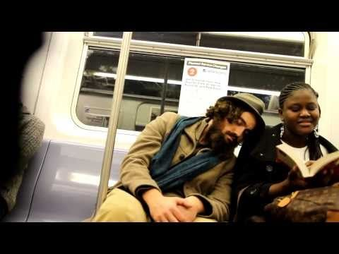 What happens when someone tries to sleep on your shoulder on the subway?