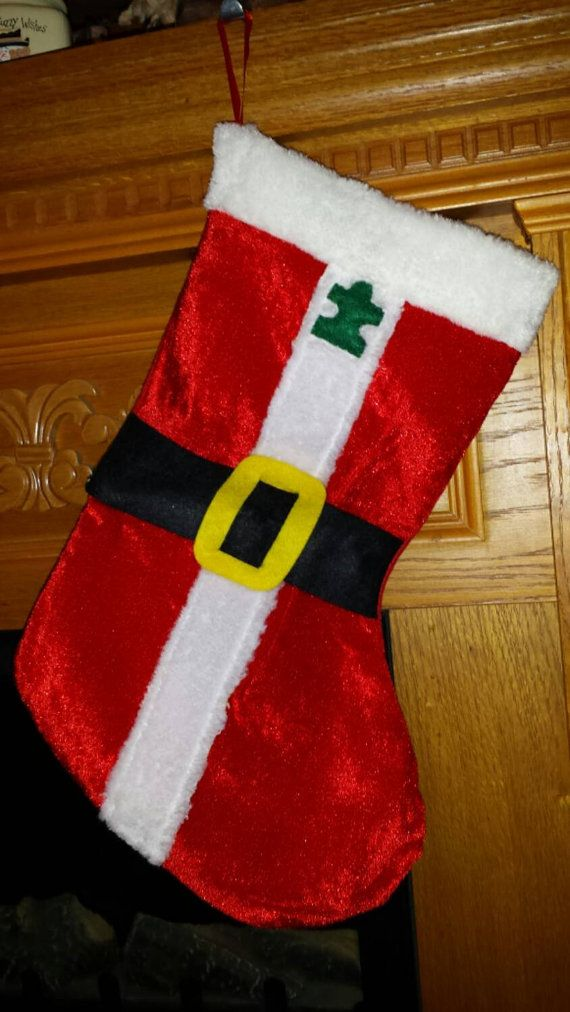 Check out this item in my Etsy shop https://www.etsy.com/listing/214255595/autism-awareness-santa-stocking