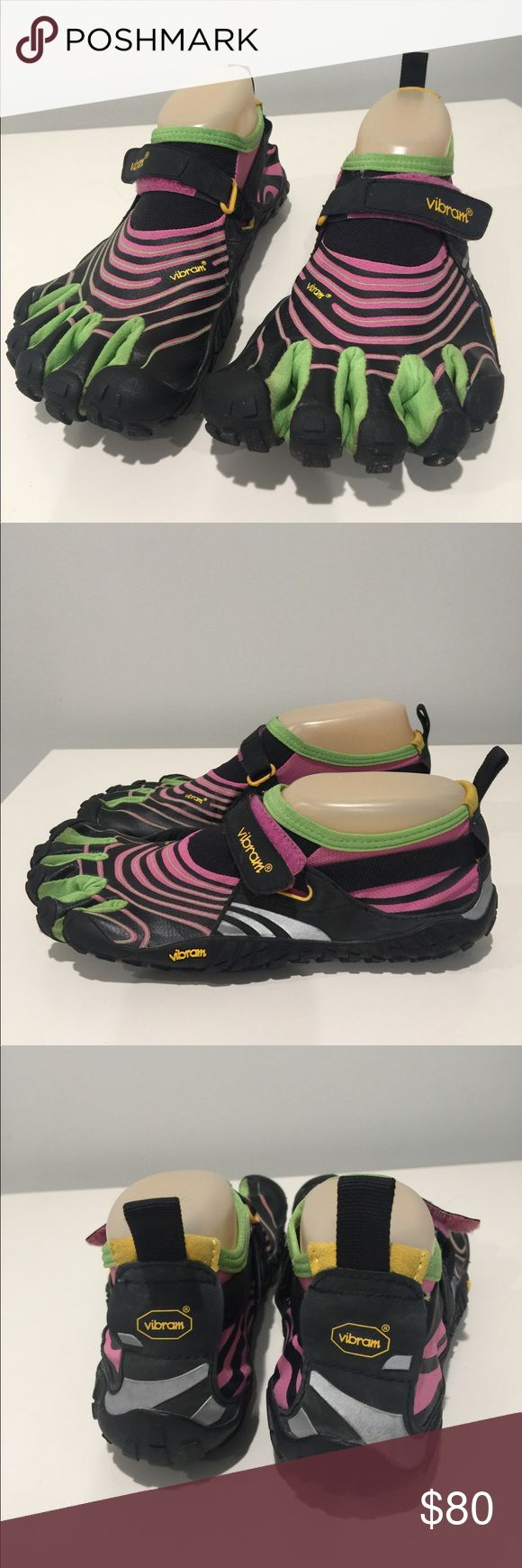 Vibram FiveFingers Multicolor Toe Running Shoes Shows wear from use. See photos for condition. No modeling. No trades. 129 Vibram Shoes Athletic Shoes