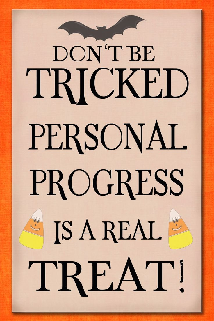 """I will be pairing this Personal Progress printable with a small bag of Halloween treats for the girls this month. To use this free for personal use printable, right click the image and select """"save image as.."""" Related"""