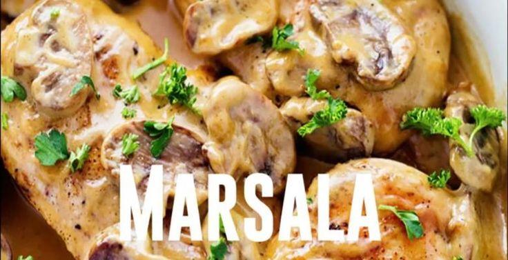 Une sauce crémeuse, des champignons et un peu de vin Marsala! MIAM