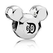 Disney Mickey Mouse Disneyland 60th Anniversary Charm by Pandora New