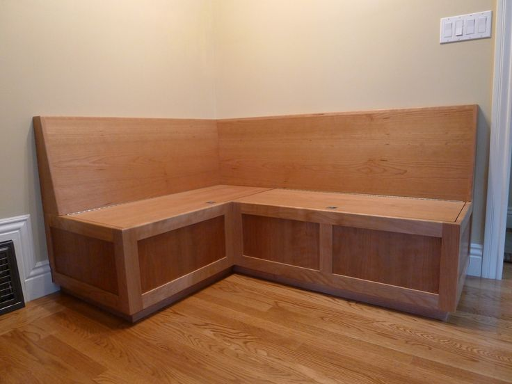 Perfect Inspirational Custom Cherry Wooden L Shaped Banquette Seating With Wooden  Backseat As Well As Wooden
