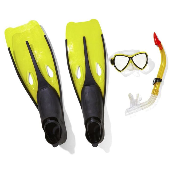 Snorkel Set, Adult - Yellow | Kmart