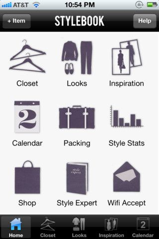 Inspirational stylebook app keep track of your closet and plan outfits