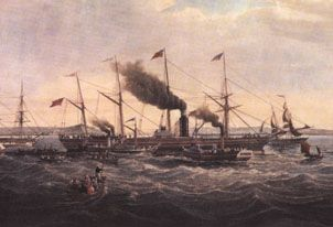 The Great Western, steam ship designed by Isambard Kingdom Brunel, was the biggest ship in the world (at the time).