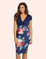 £65 - Jessica Wright Floral Print Bodycon Dress