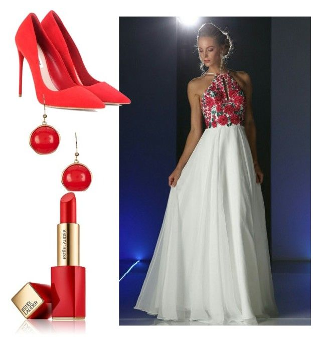 Spring party by myheartcol on Polyvore featuring polyvore fashion style Miu Miu Karen Kane Estée Lauder clothing